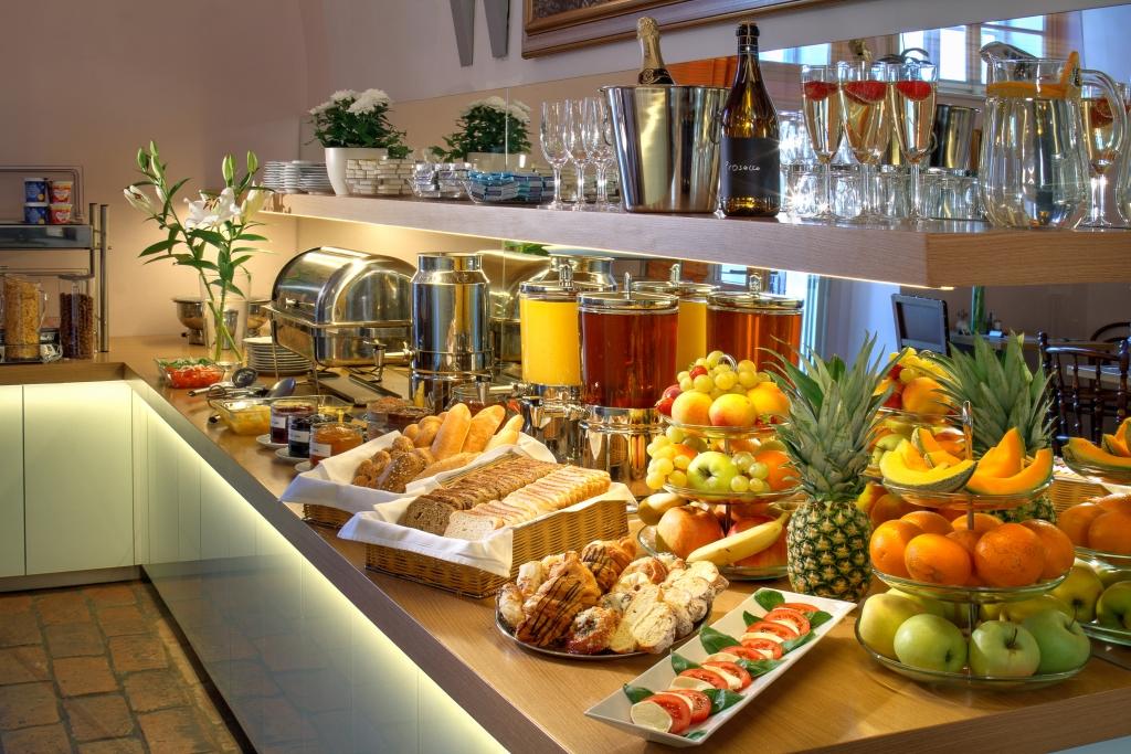Hotel Monastery Prága reggelizője